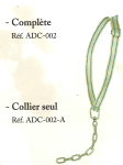 Attache canadienne - Collier seul fermeture boucle à coulisse